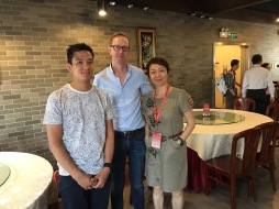 With Prof. Jan Dhaene and Prof. Xiaoming Liu, Beijing, China, June 8-9, 2016, Gerber-Shiu Workshop,
